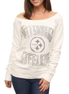 NFL Pittsburgh Steelers Vintage Off the Shoulder Fleece -  - Junk Food Clothing