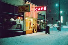 Ovaltine Cafe From 1972 to Greg Girard photographed Vancouver, Canada, his home town. Before Expo when the money moved in… Nocturne, Film Photography, Street Photography, Timeless Photography, Landscape Photography, Nature Photography, Travel Photography, Fashion Photography, Wedding Photography