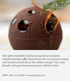 #Experiences to #Explore witg #LeRoyalBeirut #hotel #resort #coffee #dessert  #LobbyLounge