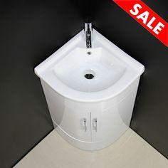 Vanity Unit Cabinet Basin Sink Floor mounted Corner Cloakroom Tap Waste 600 mm Enquire now Bathroom Corner Basins, Cloakroom Sink, Bathroom Sink Units, Bathroom Basin, Bathroom Ideas, Bathroom Cabinets, Bathroom Vanities, Bathroom Furniture, Bathrooms