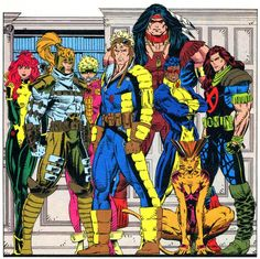 X-Force I (The Eight)… Siryn, Shatterstar, Meltdown, Cannonball, Warpath, Sunspot, Rictor, and Feral