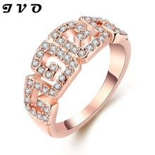 Geometric Design Ring,Career Style Gold color& Rhinestone Fashion Jewelry For Women Dress Accessories //FREE Shipping Worldwide //