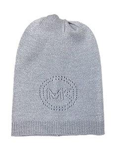 Amazon.com  Michael Kors Sparkle Perforated Lurex Oversized Logo Hat 4e5eb9433a07