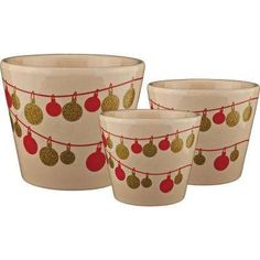Pride Garden Products Frost Ornament Dia Vanilla Ceramic Pot makes an excellent upgrade for seasonal indoor plants like poinsettias and Christmas cactus. Potted Plants, Indoor Plants, Christmas Cactus, Pot Sets, Poinsettia, White Ceramics, Frost, Planter Pots, Vanilla