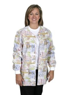 """Scrub jacket is also called """"warm-up jacket"""". Medical personnel in the US wear scrub jackets in clinics and hospitals. Scrub clothing including scrub jackets are mostly owned by the hospital or leased commercially. Each department usually has its own scrub color."""