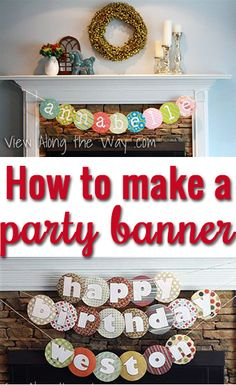 DIY Party Banner - No fancy tools required! Easy instructions for a personalized banner! Do It Yourself Inspiration, Diy Banner, Banner Ideas, Party Entertainment, Birthday Fun, Birthday Ideas, Party Gifts, Making Ideas, Party Planning
