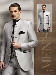 Best Man Suits Tailcoat Slim Fit collar tunic Chinese tunic Men ...