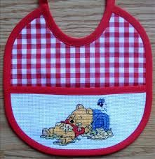 punto de cru - Buscar con Google Cross Stitch For Kids, Cross Stitch Baby, Baby Kit, Baby Design, Bibs, Patches, Embroidery, Sewing, My Style