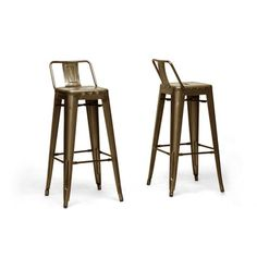 """Wholesale Interiors Baxton Studio French Industrial 30.25"""" Bar Stool (Set of 2) 164"""