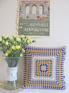 Emma Lamb is a British crochet designer whose designs explore playful combinations of colour, pattern and texture.