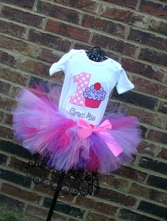 Cupcake Swirl BIrthday Tutu Outfit by TickleMyTutu on Etsy, $49.95