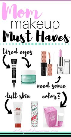 Makeup Must Haves for Moms! Here are amazing beauty must haves for tired moms that I can't live without! Mothers don't have as much time in the morning as we did before kids. These beauty products will save you from longs nights with the baby, save you lo Makeup Must Haves, Beauty Must Haves, Beauty Products Must Have, Beauty Secrets, Diy Beauty, Beauty Tips, Beauty Care, Beauty Skin, Homemade Beauty