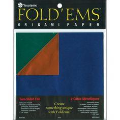 """Fold 'Ems Origami 2-Sided Foil Paper 5.875"""" 18/Pkg-  #CITstudios #Papercraft #Paper #Crafts"""