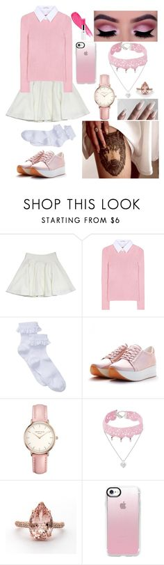 """00346."" by annacastrolima ❤ liked on Polyvore featuring Milly, GET LOST, Altuzarra, Topshop, Design Lab, Casetify, Pink, lolita, tattoo and pinkandwhite"
