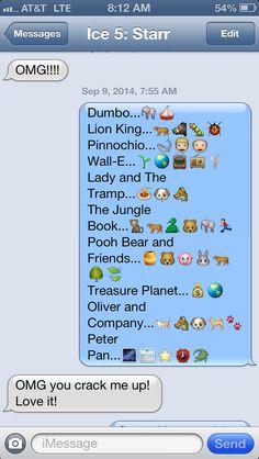Disney Emojis Disney Dream, Disney Love, Disney Magic, Disney Pixar, Walt Disney, Disney Stuff, Emoji Stories, Emoji Texts, Emoji Movie