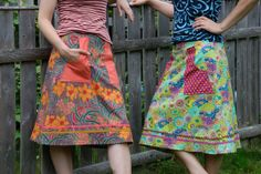 2 skirts I designed and made because there are never pockets or large enough pockets on my skirts!