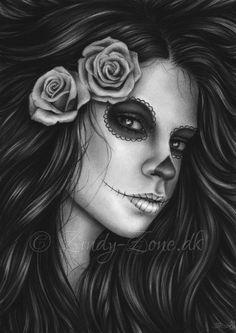 Day of the dead - Elegant Beauty by Zindy.deviantart.com on @deviantART