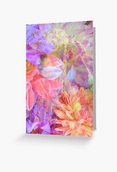 'Flower Spirit' Greeting Card by Sandy Richter Framed Prints, Canvas Prints, Art Prints, Double Exposure, Art Boards, Stationary, Digital Art, Artisan, Greeting Cards