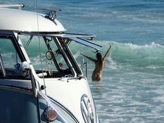 Slip it off and go for a dip in the sea. #freeyourself . . #hippylife #kombilove #vwclassic #vwlove #vwporn #nudes #natural #birthdaysuit…