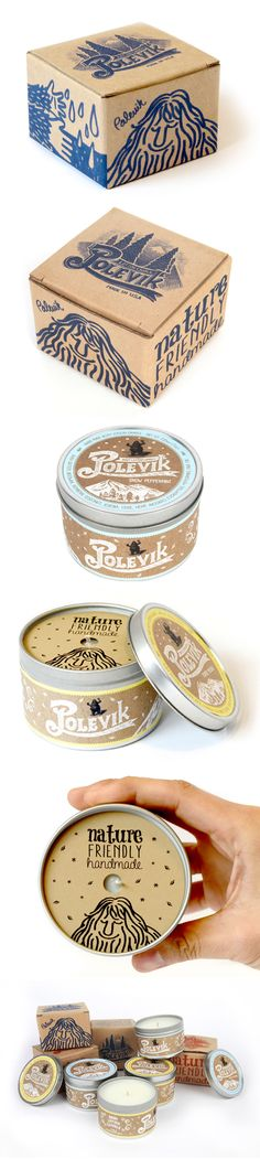 Polevik Candle Package Design