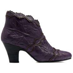 HORLEY | Cinori Shoes #anklebooties #boots #midheel #lace #purple #unique #electic #leather #djangojuliette #cinori #cinorishoes