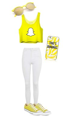 """""""Love snapchat"""" by daijah-on-point ❤ liked on Polyvore featuring Topshop, Converse and Kate Spade"""
