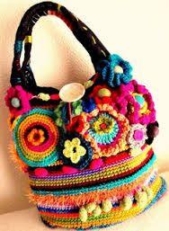 ethnic crochet bags