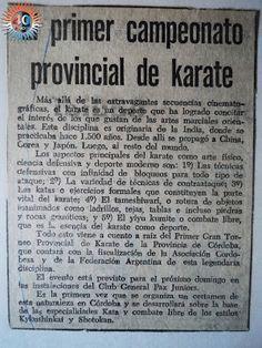 Federación Cordobesa de Karate: Hace 38 años se realizaba el Primer Campeonato Pro...