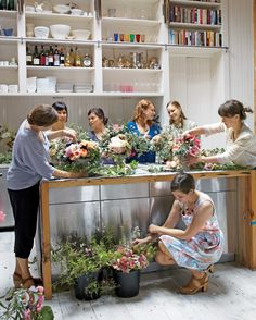 """Both designers are on a mission to break flower arrangers away from the tight, symmetrical dome-shaped bouquets that have been so trendy for the past decade or so. LFS has one gospel: Flowers should show their natural gestures -- and maybe even appear a little messy. An arrangement might look like the lush romantic gardens that Owen and Ryhanen admired in their childhoods, or a Dutch still life, or a botanical illustration. """"We hope to make flowers less aristocratic,"""" says Owen. After all…"""