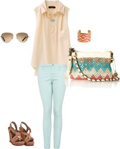 mint summer sweet, created by timbeckysager on Polyvore