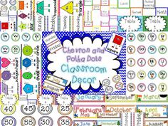 Chevron and polka dots...yes please! I can't wait to use this in my classroom!