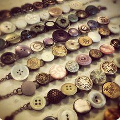 Vintage button bracelets! Such a cute idea.  via Instagram
