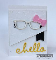 Blueprints 18 Die-namics, Geek Is Chic Glasses Die-namics, Jumbo Polka Dot Stencil - Amy Rohl #mftstamps