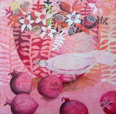 BirdBowlPomegranates by cate edwards, via Flickr