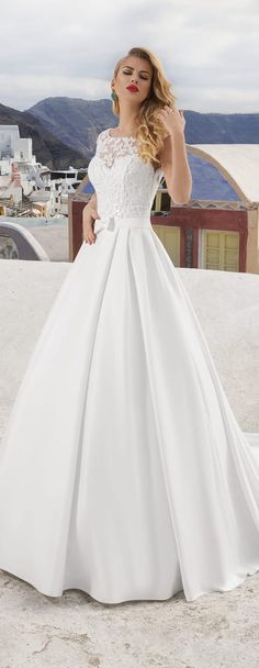 Dreagel 2017 New Arrival High Quality White Satin A-line Wedding Dress Gorgeous Scoop Neck Applique Bridal Dress Robe de Mariage Wedding Dress Cake, Wedding Gowns, Reception Gown, Dress Robes, Beautiful Bride, Bridal Dresses, One Shoulder Wedding Dress, Marie, Ball Gowns