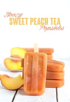 Boozy Sweet Peach Tea Popsicles