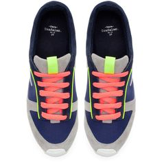 Zara Neon Sneakers ($80) found on Polyvore