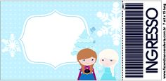 Convite Ingresso Frozen Cute