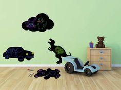 Tăblița memo Vermes, în formă de mașină Art Origami, Toy Chest, Diy, Kids Rugs, Stickers, Collection, Kids Shapes, Decorated Clipboards, Chalkboard