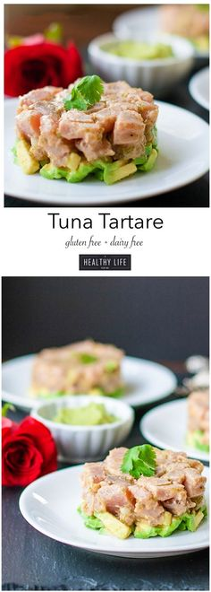 Tuna Tartare Recipe perfect for appetizer or dinner.  Nice for Romantic dinner idea served along side salad- A Healthy Life For Me