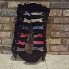2c843076c5 ♨SALE♨ Leather and Suede Rainbow boots! What we have here are a pair