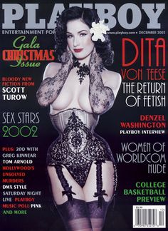 Dita von Teese: The Return of Fetish, Playboy, December 2002.
