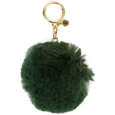 Michael Michael Kors pom-pom keyring ($36) ❤ liked on Polyvore featuring accessories, green, michael michael kors, pom pom key rings and fur key ring