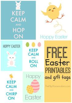 Free printable happy easter tags holiday easter pinterest free easter printables and gift tags negle Images