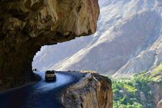 "They call it ""The Eighth Wonder of the World""! The Magnificent KARAKORAM HIGHWAY, carved through the mighty mountains, Northern Areas of Pakistan."