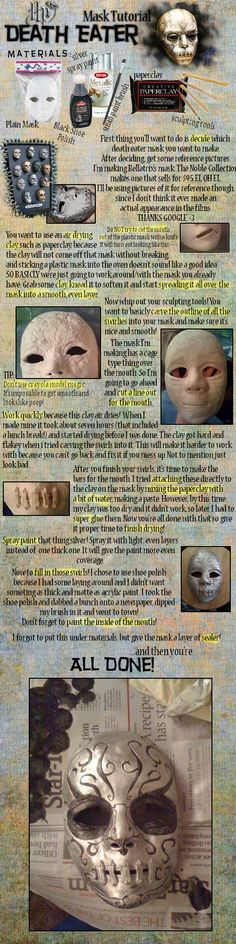 DIY - costume- [Tutorial] How to make a death eater mask - HP