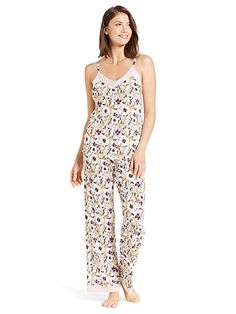 5d1ae5f37530 Nanette Nanette Lepore Womens 2 Piece Camisole Shirt Pants Pajama Sleep Set  Smoked Pearl X-Large at Amazon Women s Clothing store   women sfashion   clothes ...