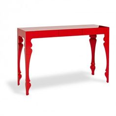 "$1295  REEVESdesign Red Louis Console 47""w x 17""d x 32""h"