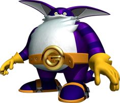 Big the Cat. Worst Sonic Character Ever. I am so glad he is not on the games anymore. Shadow The Hedgehog, Sonic The Hedgehog, Big The Cat, Dark Brotherhood, Sonic Boom, Character Sketches, Character Art, Sonic 25th Anniversary, Knuckles The Echidna