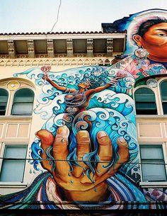 street art - yemaya Women's Building San Francisco